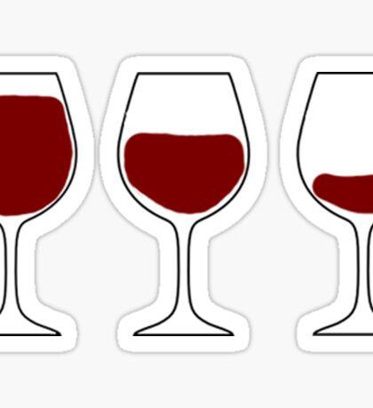 wine glasses Sticker