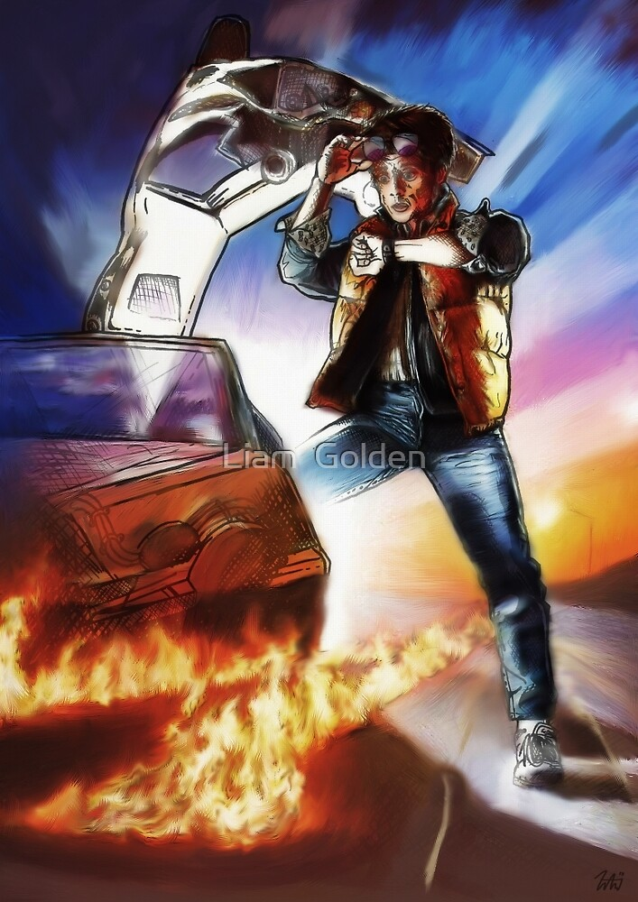 Back To The Future -Ink n Painted by Liam  Golden