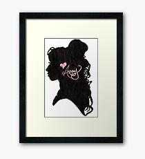 Amy Winehouse Silhouette  Framed Print