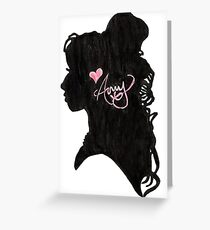 Amy Winehouse Silhouette  Greeting Card