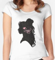 Amy Winehouse Silhouette  Women's Fitted Scoop T-Shirt