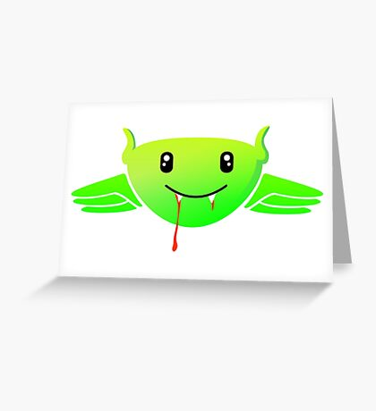 Alien Vampire VRS2 Greeting Card