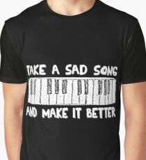 Hey Jude  White Title Graphic T-Shirt