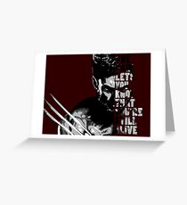 wolverine's pain Greeting Card
