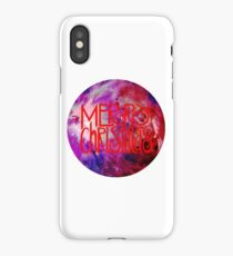 Merry Christmas nebula galaxy iPhone Case/Skin