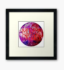 Merry Christmas nebula galaxy Framed Print