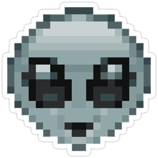 """""""Pixel Alien Emoji """" Stickers By Nxvemberregen"""