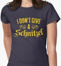 I Don't Give A Schnitzel Women's Fitted T-Shirt