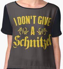 I Don't Give A Schnitzel Chiffon Top