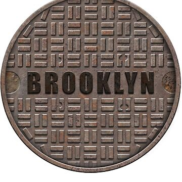 NYC Manhole Lid: Brooklyn by A-Game