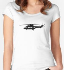 Helicopter pilot Women's Fitted Scoop T-Shirt