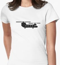 Army helicopter Womens Fitted T-Shirt