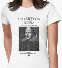 Shakespeare First Folio Frontpiece - Simple Black Version T-Shirt