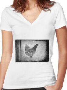Rhode Island Red Women's Fitted V-Neck T-Shirt