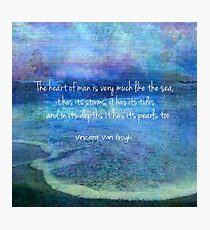 Vincent Van Gogh sea ocean  Quote Photographic Print