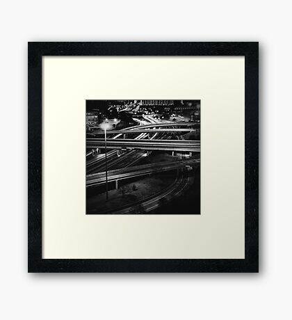 freeways Framed Print