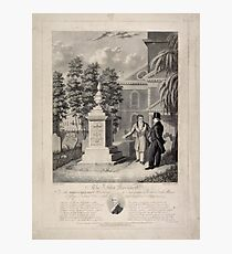 534 The Actor's Monument the late Edmund Kean Esqre contemplating the tomb he caused to be erected to the memory of George Frederick Cooke in Saint Paul's Church Yard Photographic Print