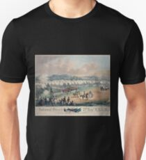 313 National Guard trophy of flags etc with Colonel A Duryee commandant 7th Regt NYSM at Camp Worth Kingston July 1855 forming for review and inspection by Inspector General B F T-Shirt