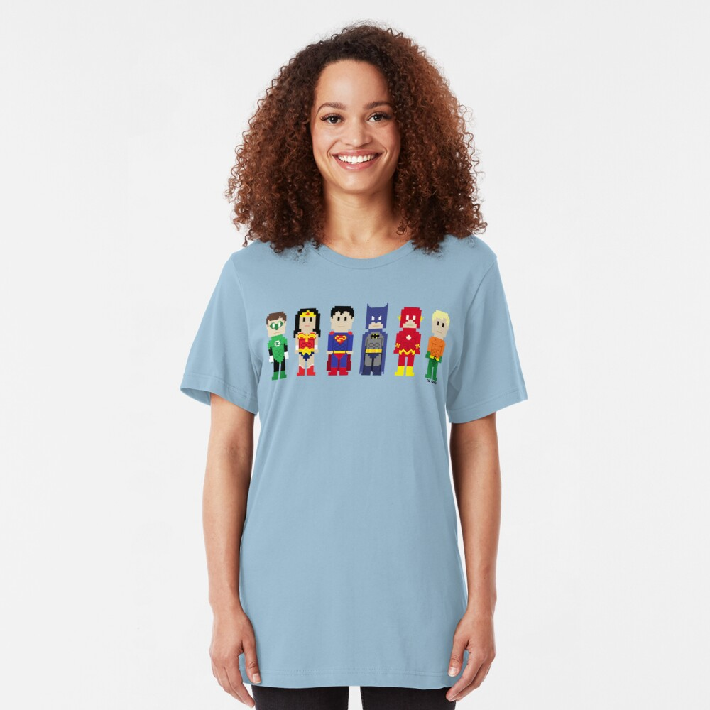 8-Bit Super Heroes 3: The Other Guys Slim Fit T-Shirt