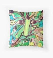 Pagan Greenman Throw Pillow