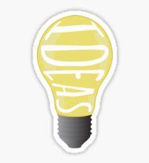 Ideas Light Bulb Sticker