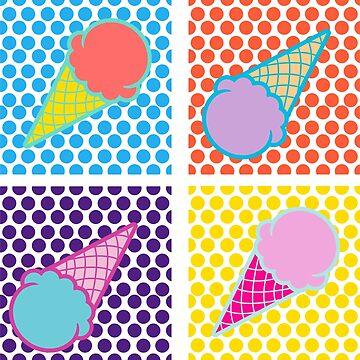 pop art - ice cream by CreativeClassic