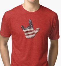ILY - American Flag Tri-blend T-Shirt