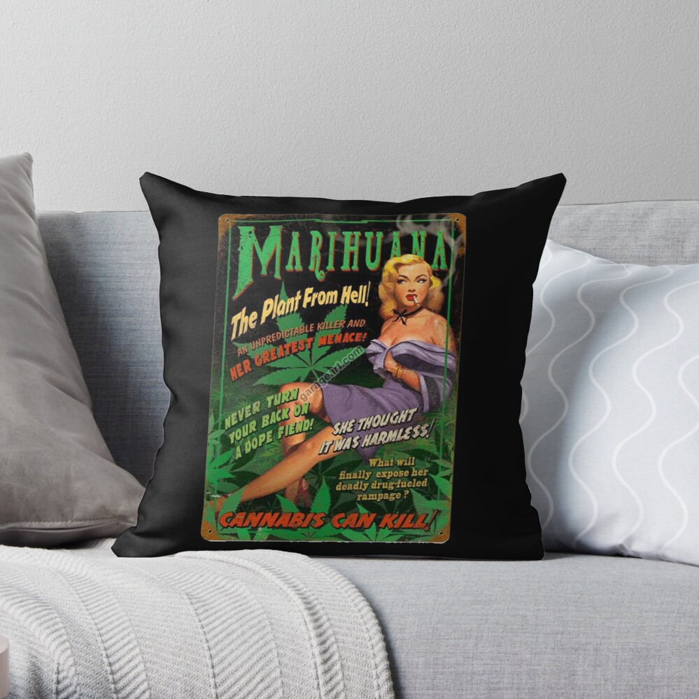 Plant From Hell! Throw Pillow