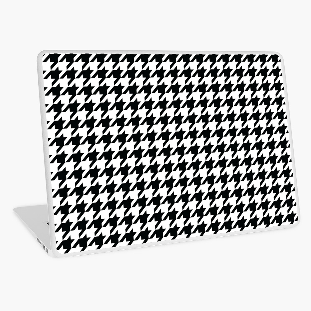 Houndstooth Black and White Pattern Laptop Skin