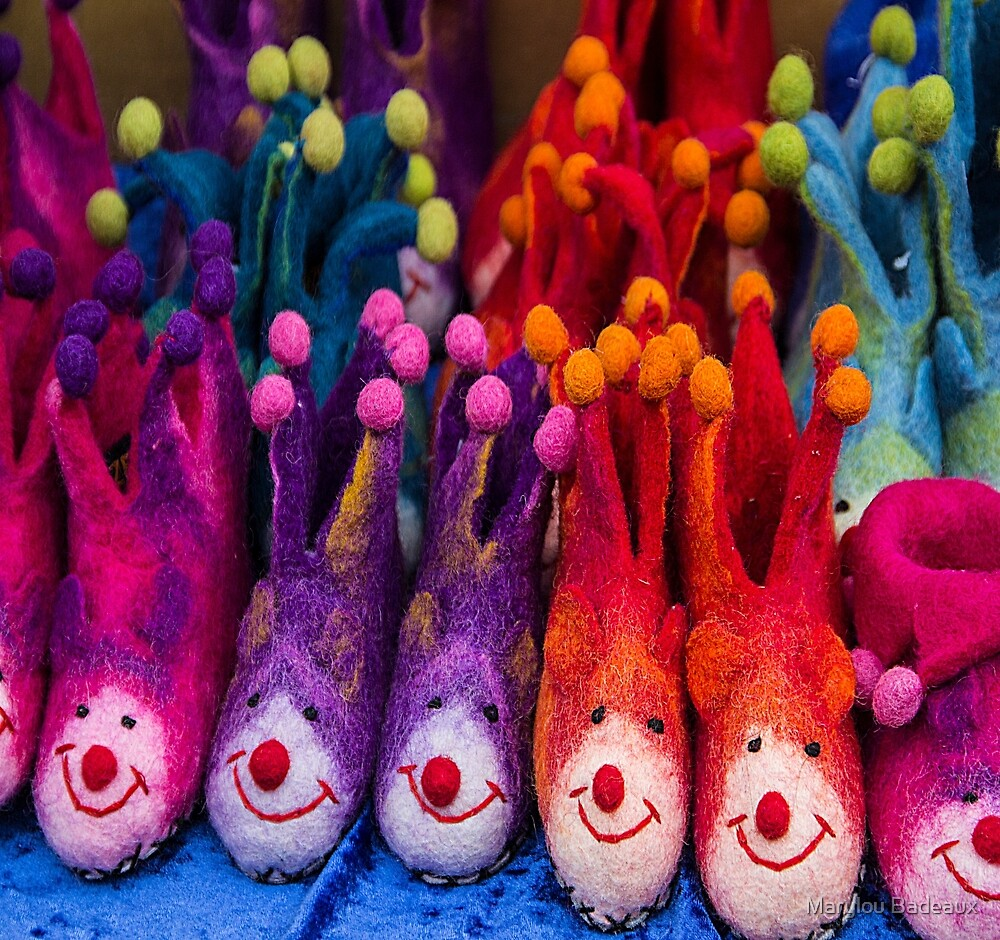 Whimsical slippers by Marylou Badeaux