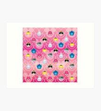 Tsum Tsum Alice in Wonderland - Pink Art Print
