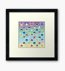Tsum Tsum Alice in Wonderland - purple/green/blue/yellow Framed Print