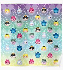 Tsum Tsum Alice in Wonderland - purple/green/blue/yellow Poster