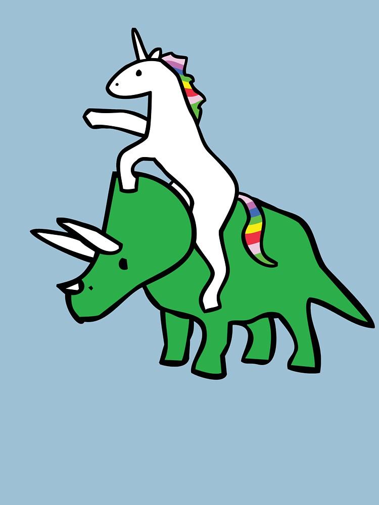Unicorn Riding Triceratops de jezkemp
