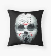 Friday Night Terror Throw Pillow