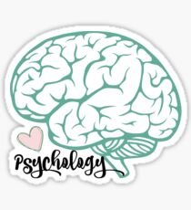 Pegatina Etiqueta engomada del cerebro de psicología