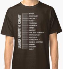 Beard growth length measurement chart Classic T-Shirt