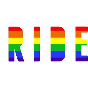 PRIDE! Rainbow LGBT+ Print by fostercollin