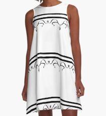 Black and White Ribbon A-Line Dress