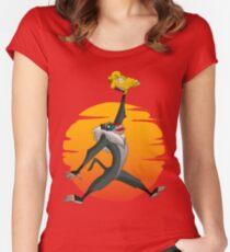 Luftlöwe Tailliertes Rundhals-Shirt