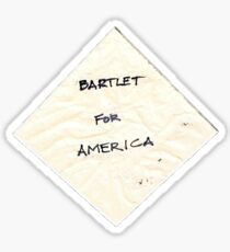 Bartlet for America napkin Sticker