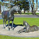 Mare and Foal Sculpture by Graeme  Hyde