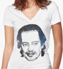 Camiseta entallada de cuello en V Space Boy Buscemi