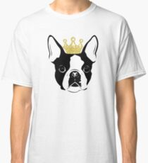 Boston Terrier with Crown Classic T-Shirt