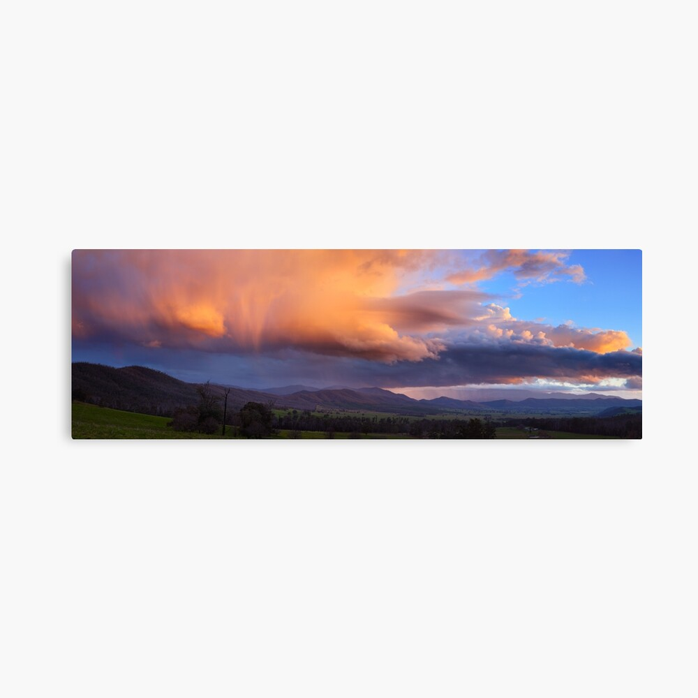 Stormy Sunset over Happy Valley, Myrtleford, Victoria, Australia Canvas Print