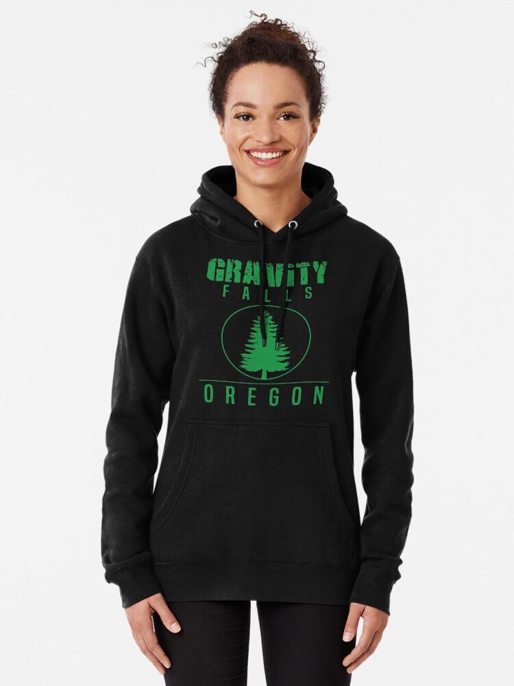 Alternate view of Gravity Falls Oregon Pine Pullover Hoodie