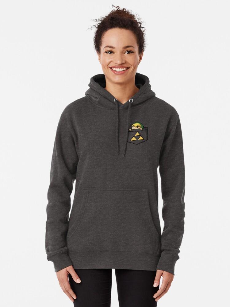 Vista alternativa de Sudadera con capucha Leyenda de Zelda - Enlace de bolsillo