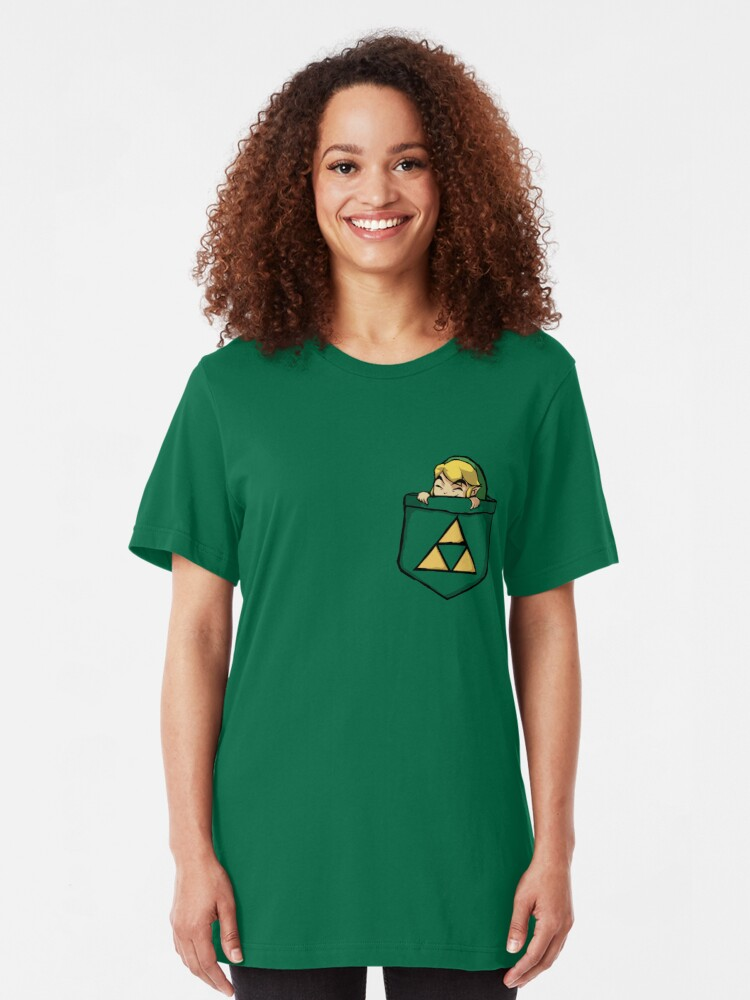 Alternate view of Legend of Zelda - Pocket Link Slim Fit T-Shirt