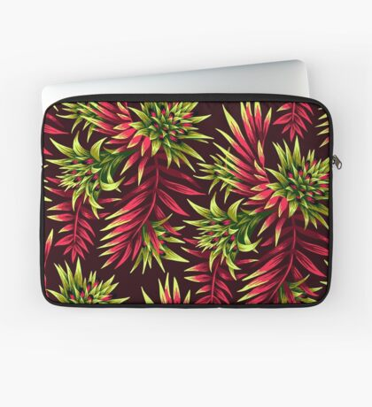 Fasciata Tropical Floral - Green Pink Laptop Sleeve