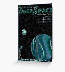 Deep Space Vintage Travel Poster Greeting Card